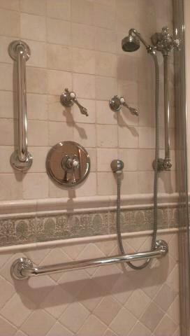 Chrome Shower Grab Bars