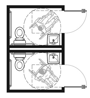 Plan-1B Pair: 2010 Standards with Out-Swinging Doors